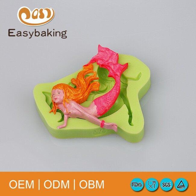 Fairy Tale World Mermaid Cake Decoration Silicone Molds