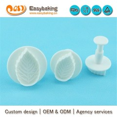 Customized Logo Classic Veined Rose Leaf Plunger Cutters