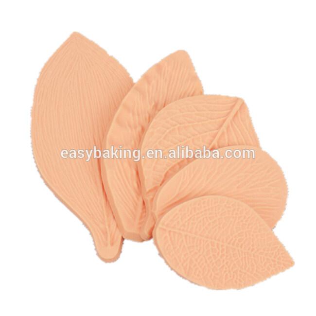 5pcs/set Baking Tools Fondant Cake Silicone Leaves Decoration Molds