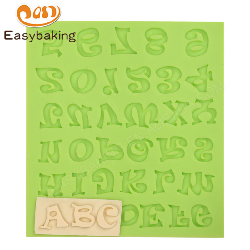 Russian Letters Alphabet Fondant Mould Silicone Molds for Cake Decorating