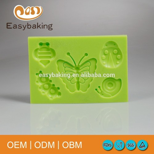 Insect series modeling paste cake decorating fondant butterfly silicone mould