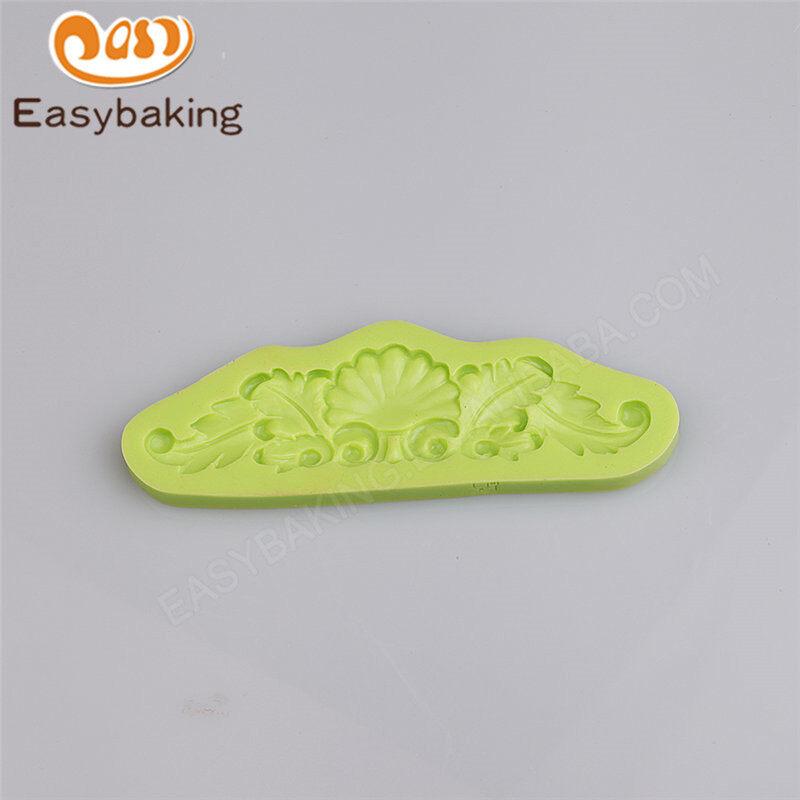 Elegant damask design silicone fondant tools cake decoration mold