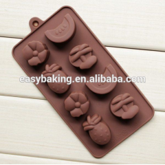 Silicone molds Fruit shape chocolate Molds Pineapple&Banana&Watermelon