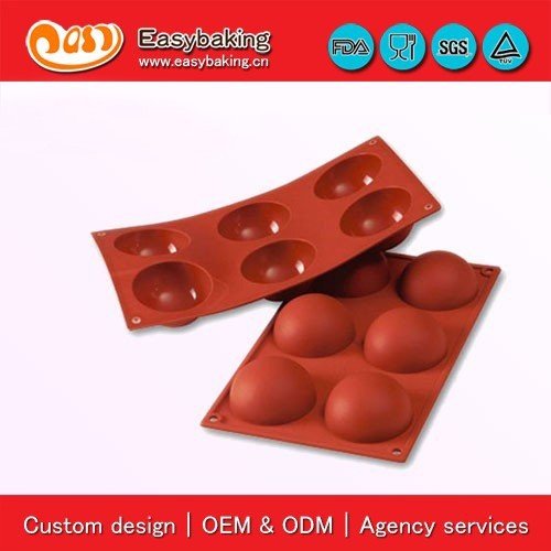 Emergency Services Half Sphere Pans Baking Silicone Molds