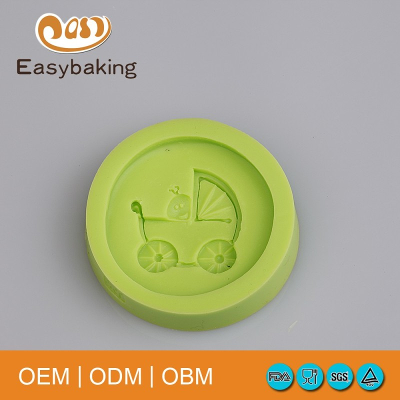 Food Grade Baby Carriage Soap Silicone Mold For Cake Fondant Decoration