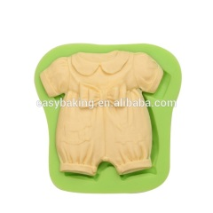 New product baby series baby dress with bow shape silicone fondant cake molds