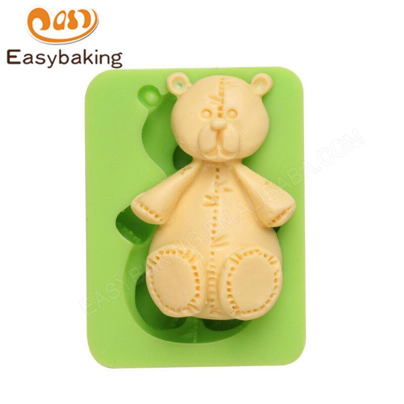 Bear diy handmade 3D fondant silicone soap mold