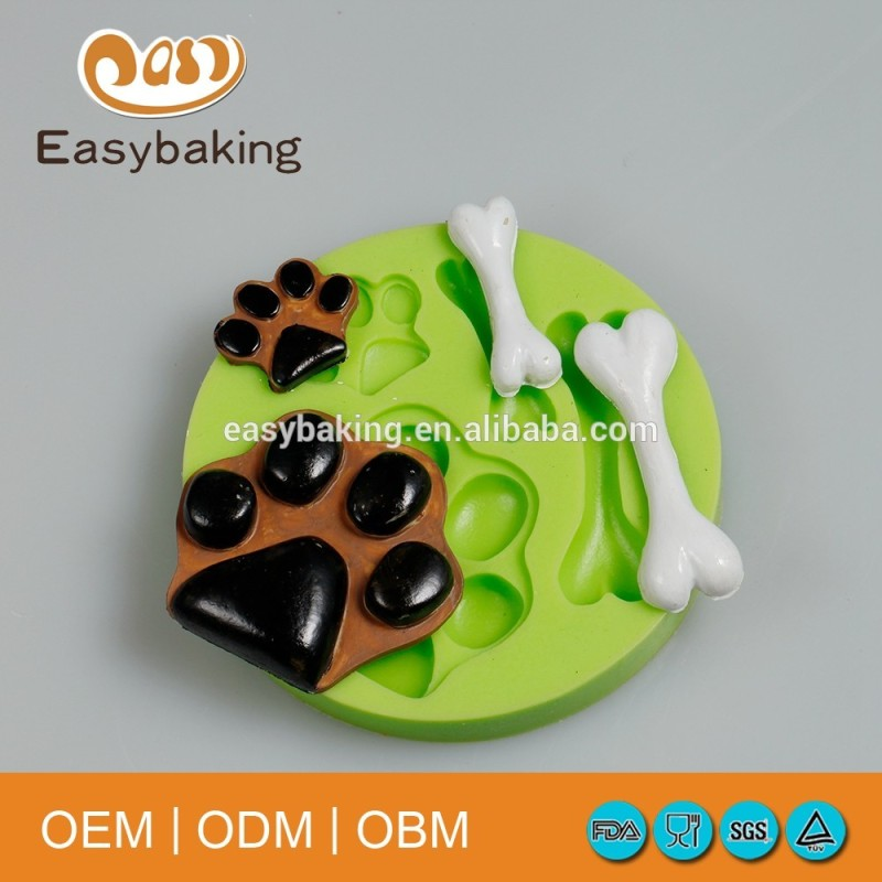 Dog footprints doggy bone silicone cupcake mold