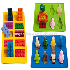 Cake Tools Robot shaped for Candy Chocolate Ice Cube Lego silicone mold