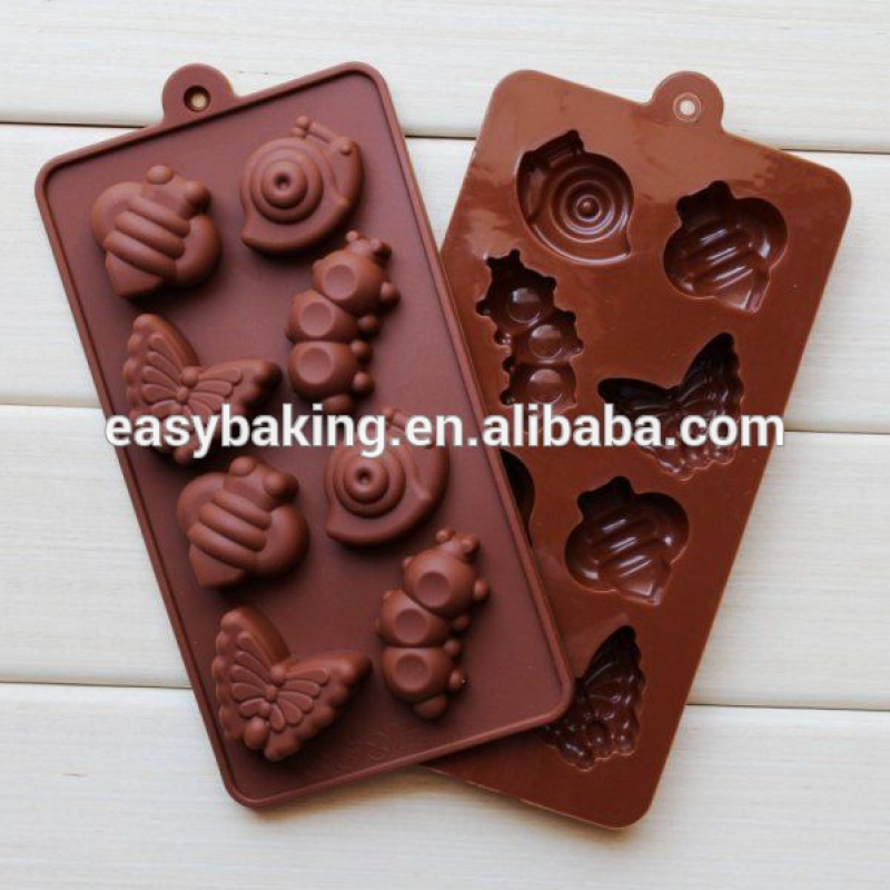 Lovely animal shaped chocolate molds for Bees, butterflies, caterpillar
