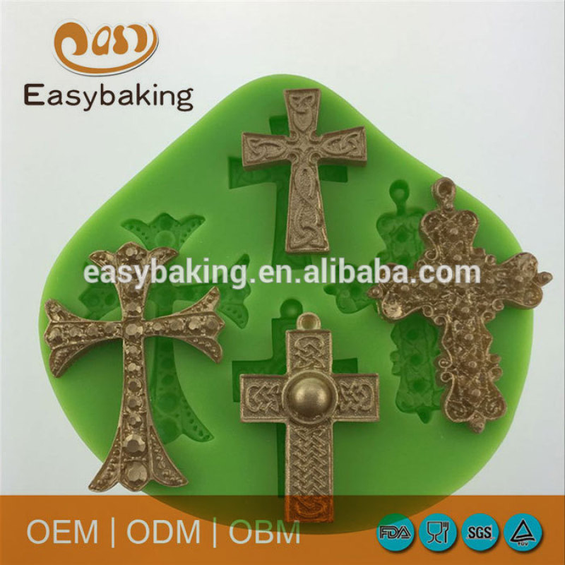 Different kinds of cross pattern food grade soap silicone for molds