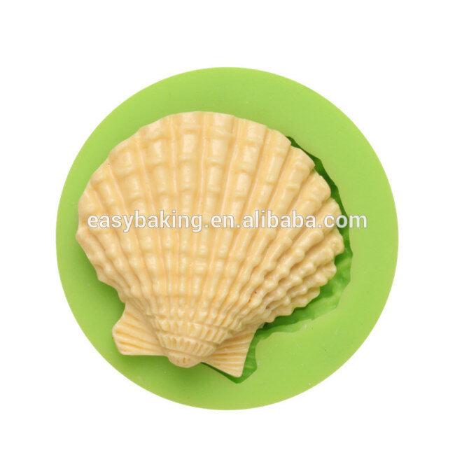 Food grade ocean series seashell silicone pancake molds cake decoration