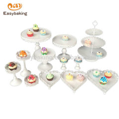 China factory custom high quality Many shapes metal cake stand for home or wedding