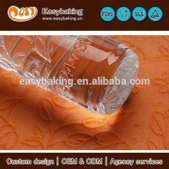 Custom Normal Flowers And Leaves Cake Decorating Acrylic Embossing Rolling Pins