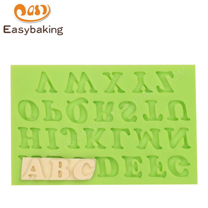 Alphabet shape silicone fondant mold