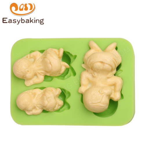 Sleeping Babies Silicone Flexible Handmade Clay Moulds