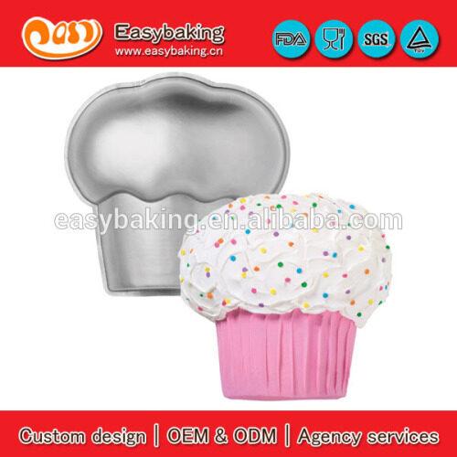 High Quality Aluminum Metal Giant Cupcake Cake Pan Mold
