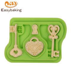 High Quality Cake Decor Keys and Locket Silicone Mold