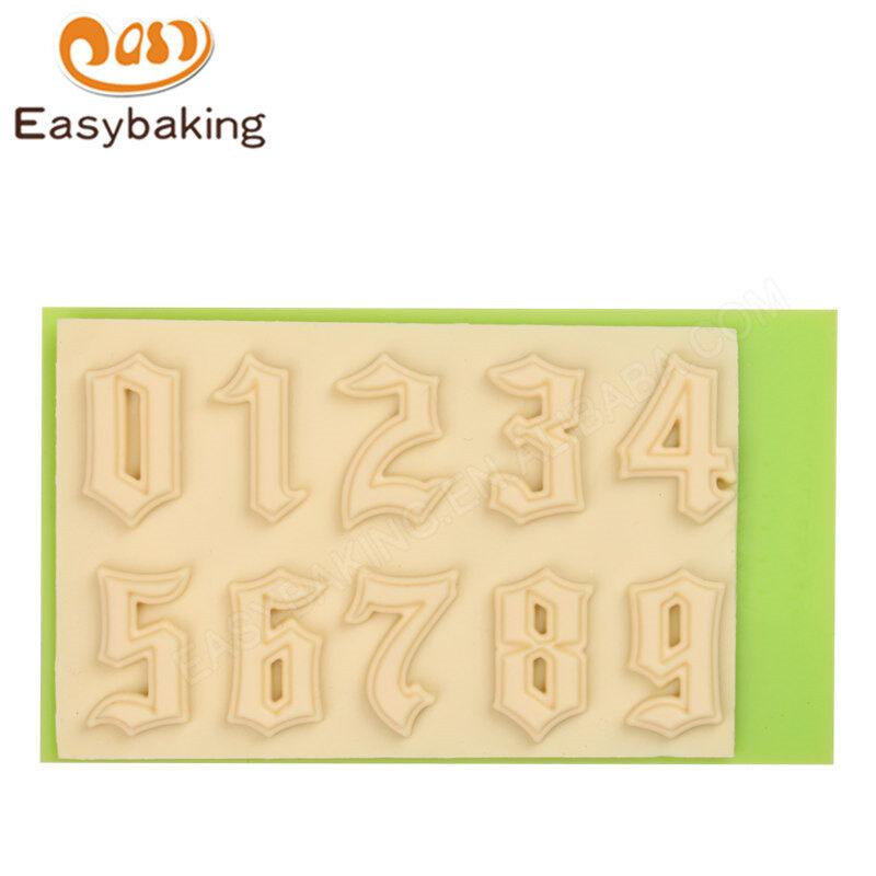Arabic Numerals Fondant decoaration mould