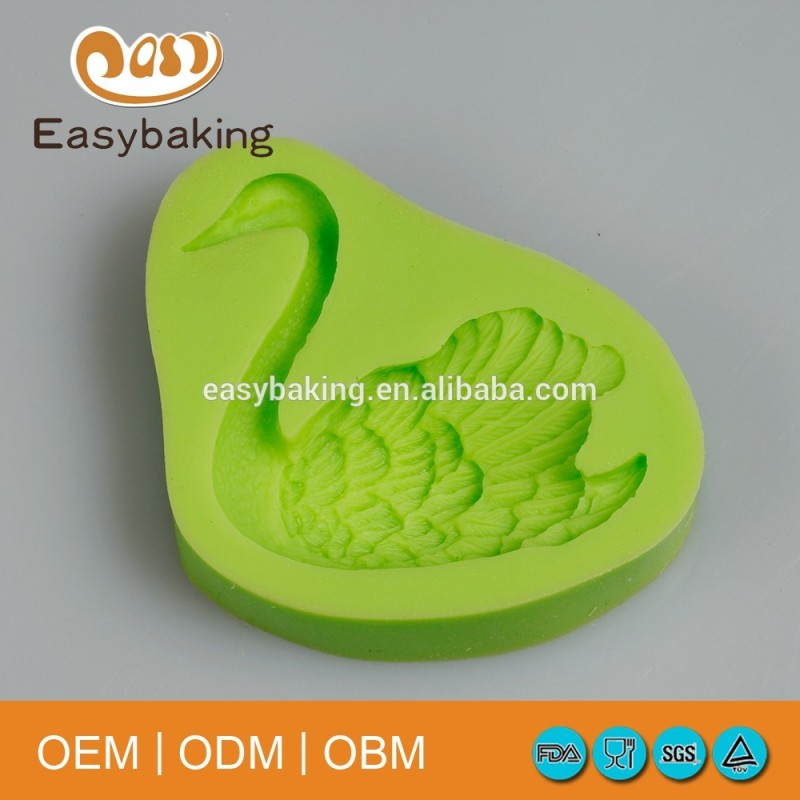 Eco-friendly Cake Decorating Tools Single Swan Silicone Soap Mold