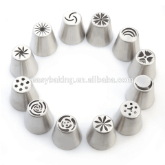 Large Icing Cream Tulip Decorating Piping Tips Set Russian Cake Nozzle