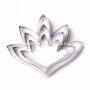 3 pcs/set 3D Tuberose Flower Cake Mold Stainless Steel Evening Primrose Petals Cookie Cutter