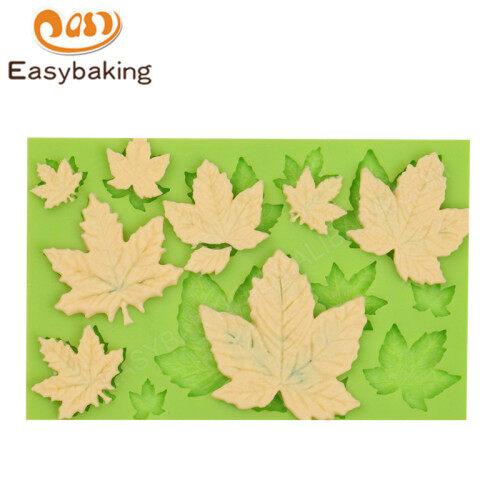 Maple Leaves Silicone Cupcake  fondant mould