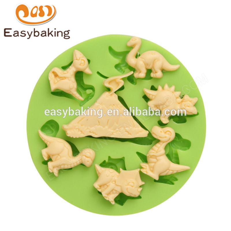 Chinese factory new design home made dinosaur series silicone molds