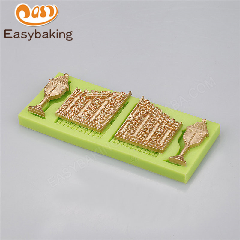 Doors with lights 3d silicone mould fondant tools