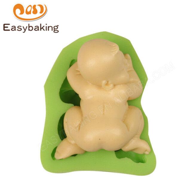 Wholesale Sleep Baby Birthday Cake Silicone Mold