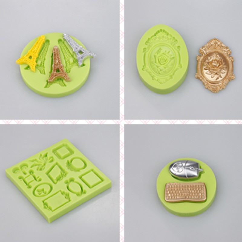 European Baroque Vintage Doors and Lights Style Silicone Mold for Cake Decorating