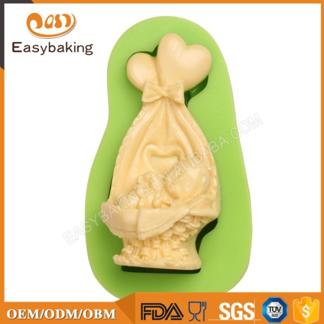 DIY Fondant Sleeping Baby and Beautiful Crib Silicone Molds