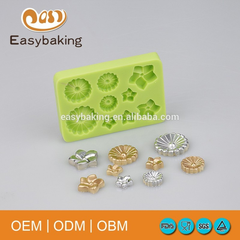 3D fondant cake decorations silicone icing lace mat mold