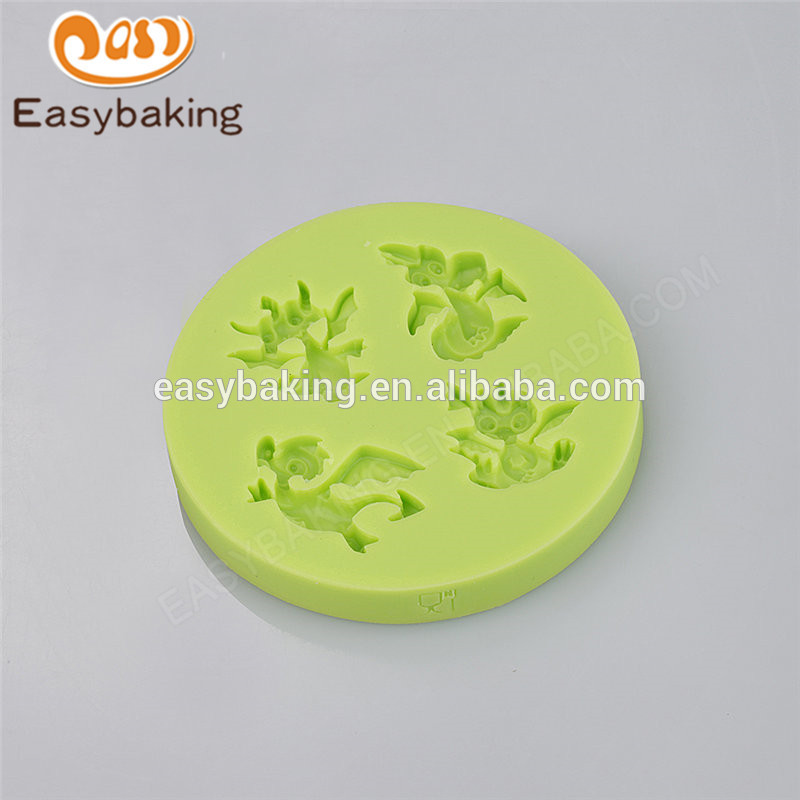 Promotional factory customized cheap flying dinosaur series silicone molds