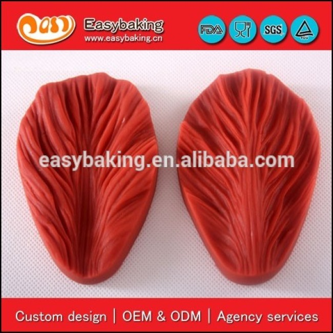 New arrival veiner leaf fondant silicone for gypsum mold