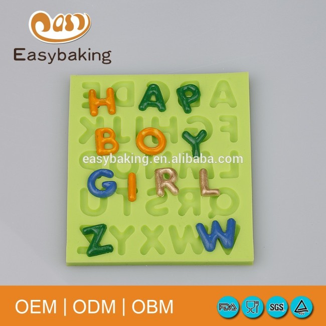 A to Z letters Silicone Mould Cake Decorating Supplier