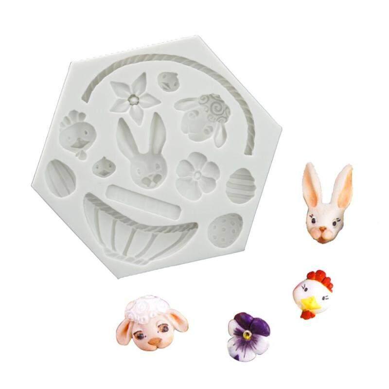 Easter festival cake mold rabbit flower basket cake chocolate cookie mold baking utensil