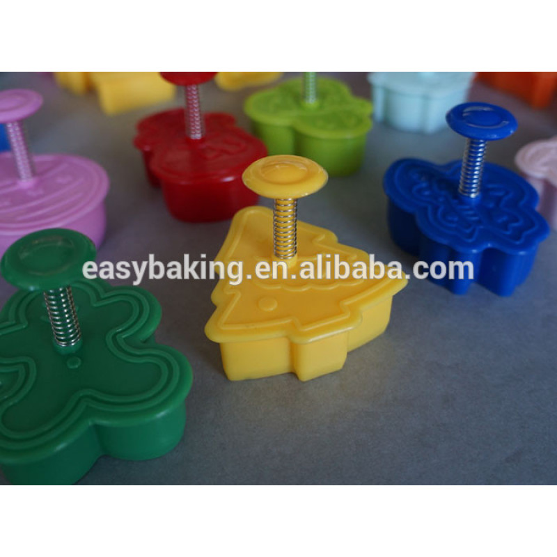 Plastic christmas cookie cutter biscuit decorating tool