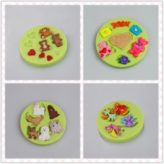 Items Wholesale Kissing Cats Shaped Baking Silicone Molds
