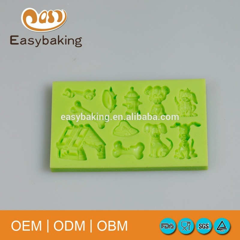 Multi shapes pet dogs bones silicone cake decorating moulds