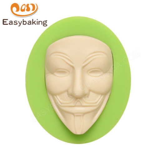 Vendetta V Mask Anonymous Silicone fondant  Mold Suagr Art Craft Making Tool