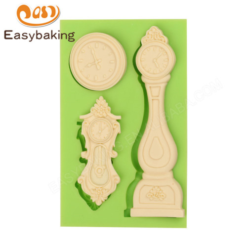 Wall and Floor Clock Cake Decoration Silicone Fondant Mould