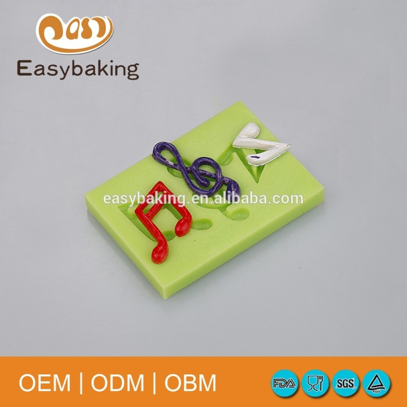 Classic 3 In 1 Daisy Musical Note Silicone Fondant Mold