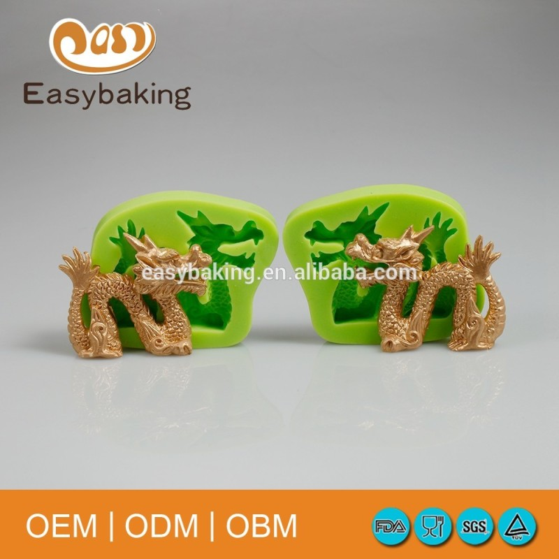 Factory Direct Supply Cake Decorating 3D Dragon Silicone Molds