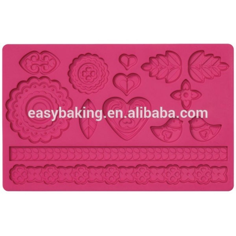 Hot Selling Items Silicone Lace Molds For Cake Decorating