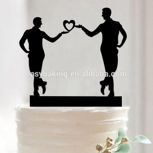 Beatiful cake baking tools acrylic gay wedding cake decoration cake topper