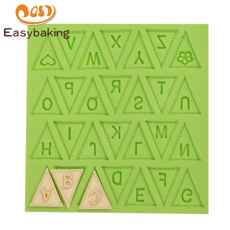 Hot Sell Alphabets Sugar Silicone Mold  Silicone Decoration Tools