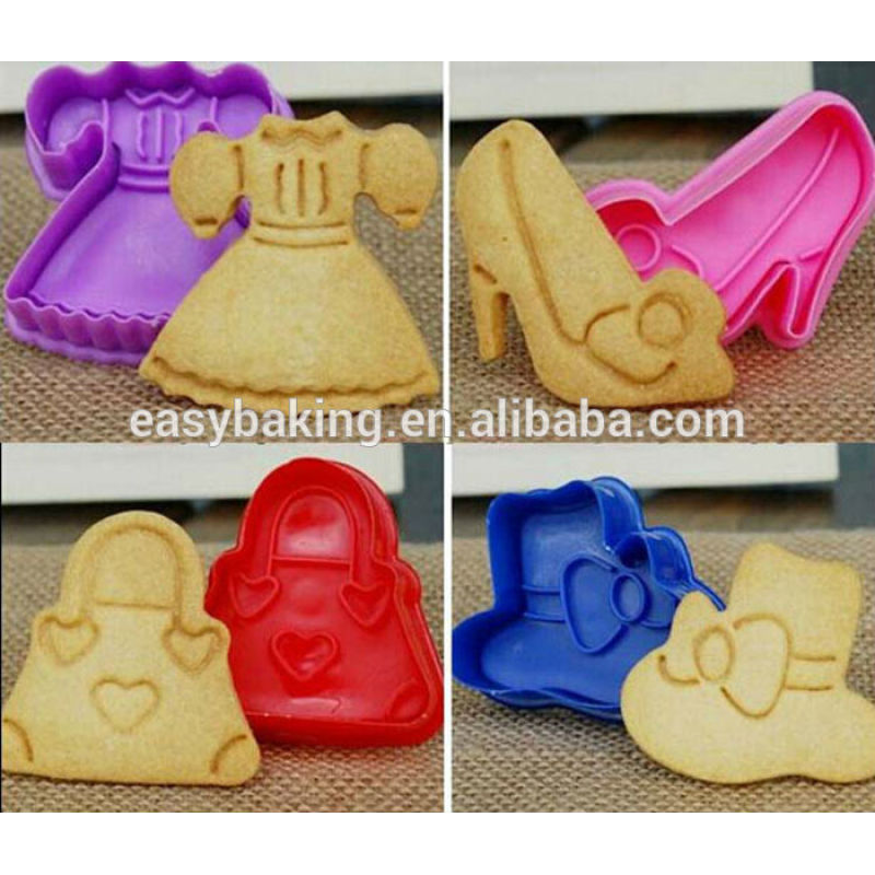 Bakeware Pastry Decorating Mould 3D Plastic Lady Cookie Cutter Set