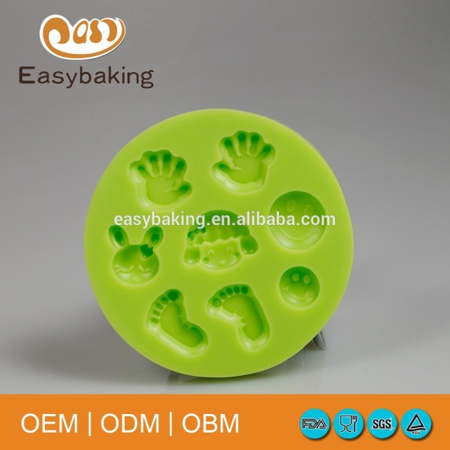 Hot selling baby series cake molds silicone