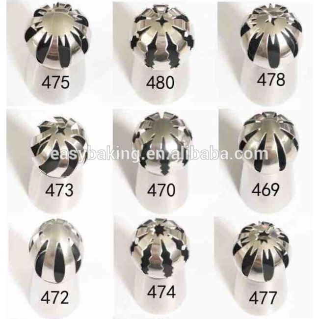 Food Grade Multi Designs Ball Shape Cake Decorating Sphere Piping Tips